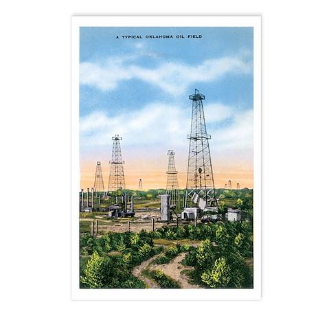 Oklahoma Oil Field OK Postcards (Package of 8)