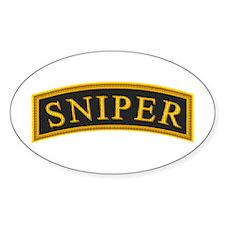 Sniper Tab Oval Decal
