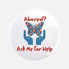 "Domestic Violence Help 3.5"" Button"