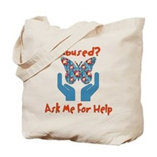Domestic Violence Help Tote Bag