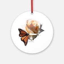 Jan's Rose & Monarch Ornament (Round)