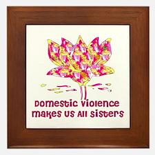 Domestic Violence Sisters Framed Tile