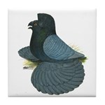 English Trumpeter Andalusian Tile Coaster