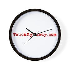 TouchMyBawdy.com Wall Clock