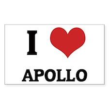 I Love Apollo Rectangle Decal