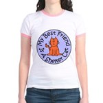 My Best Friend is a Shelter C Jr. Ringer T-Shirt