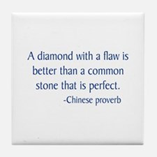 Chinese Proverb Tile Coaster