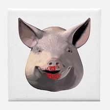 Lipstick Pig Tile Coaster