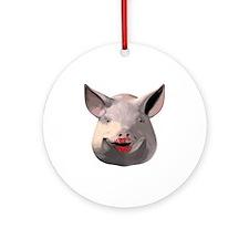 Lipstick Pig Ornament (Round)