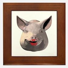 Lipstick Pig Framed Tile