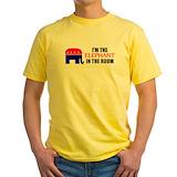 Elephant room Mens Yellow T-shirts