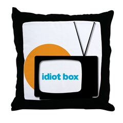 Idiot Box II Throw Pillow