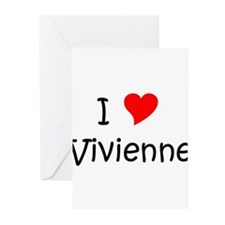 Cute I heart vivienne Greeting Cards (Pk of 20)