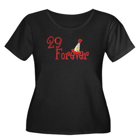 29 Forever Women's Plus Size Scoop Neck Dark T-Shi