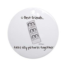 Silly Pictures Ornament (Round)