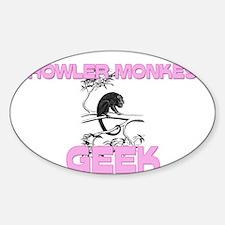 Howler Monkey Geek Oval Decal