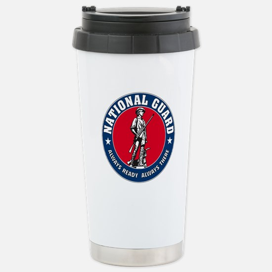 National Guard Logo Stainless Steel Travel Mug