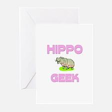 Hippo Geek Greeting Cards (Pk of 10)