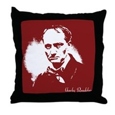 Charles Baudelaire Throw Pillow