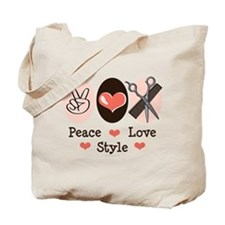 Peace Love Style Hairstylist Tote Bag