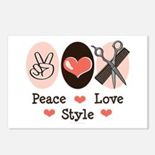 Peace Love Style Hairstylist Postcards (Package of