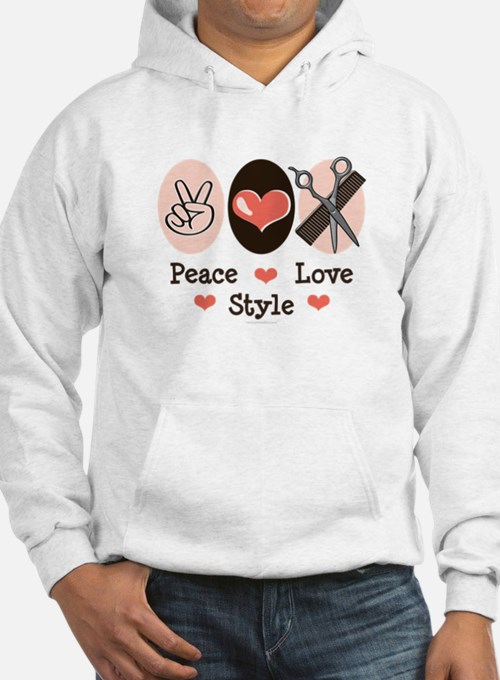 Peace Love Style Hairstylist Hoodie