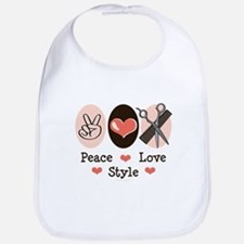 Peace Love Style Hairstylist Bib