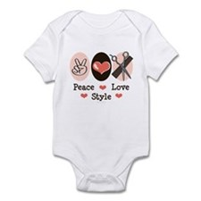 Peace Love Style Hairstylist Infant Bodysuit