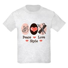 Peace Love Style Hairstylist T-Shirt