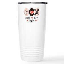 Peace Love Style Hairstylist Travel Mug