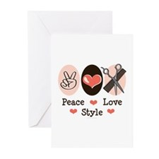 Peace Love Style Hairstylist Greeting Cards 20 Pk
