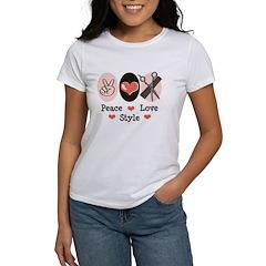 Peace Love Style Hairstylist Tee