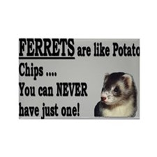 Ferrets are like Chips Rectangle Magnet
