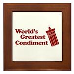 World's Greatest Condiment Framed Tile