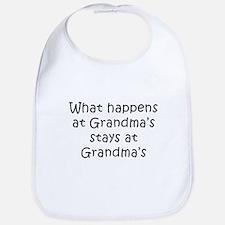 What Happens at Grandmas Bib