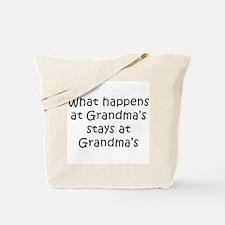 What Happens at Grandmas Tote Bag