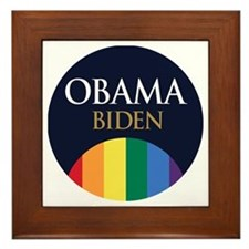 Obama-Biden Gay Pride 19 Framed Tile