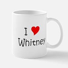 Cute I love whitney Mug