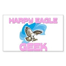 Harpy Eagle Geek Rectangle Decal