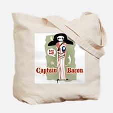Captain Bacon Pirate Tote Bag