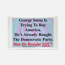 """""""George Soros Is Buying"""" Rectangle Magnet (100 pac"""