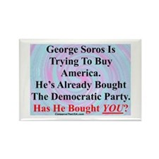 """George Soros Is Buying"" Rectangle Magnet"