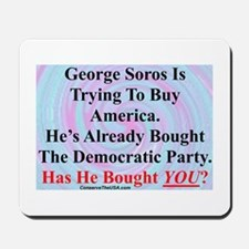"""George Soros Is Buying"" Mousepad"