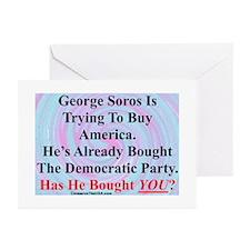 """George Soros Is Buying"" Greeting Cards (Pk of 20)"