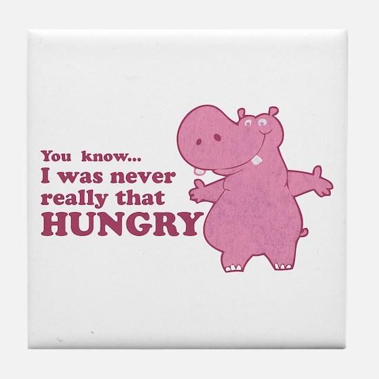 Funny Vintage hippo Tile Coaster