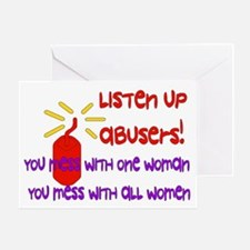 Message To Abusers Greeting Card