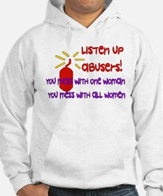 Message To Abusers Hoodie