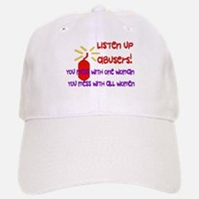 Message To Abusers Baseball Baseball Cap