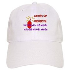 Message To Abusers Baseball Cap