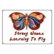 Strong Woman Learning To Fly Banner